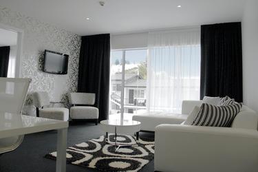 Wohnraum im Apartment