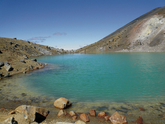See im Tongariro National Park
