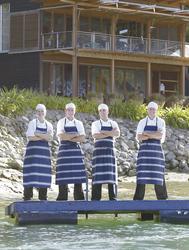 das Küchenteam im Bay of Many Coves Resort