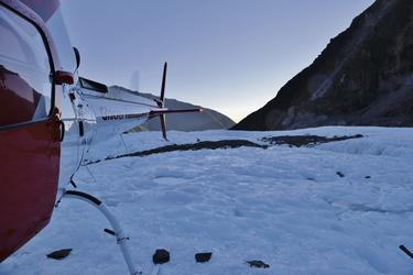 Helikoptertransfer zum Gletscher