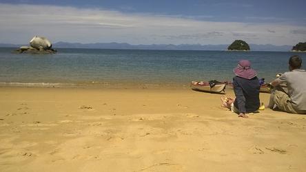 Pause im Abel Tasman NP