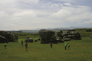 Pause bei den Elephant Rocks