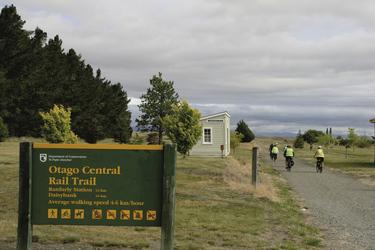Auf dem Otago Rail Trail unterwegs