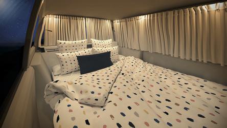 Bequemes Bett mit hochwertiger Wäsche