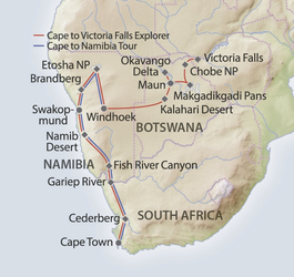 Cape Town to Victoria Falls Grand Explorer