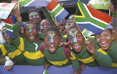 Südafrikanische Fröhlichkeit