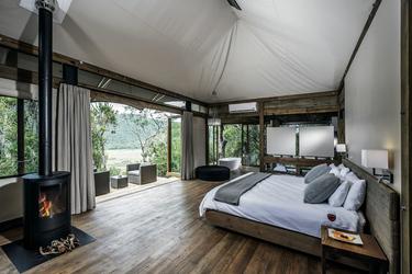Luxuriöse Safari-Zelte