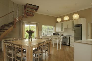 Villa Sandpiper, offener Küchen- Essbereich
