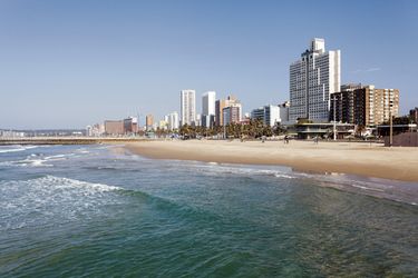 Am Stadtstrand von Durban