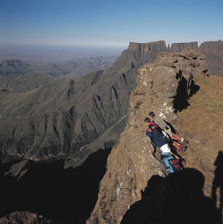 Auf dem Gipfel der Drakensberge