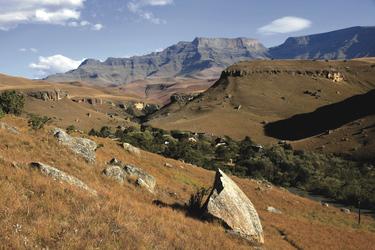 Blick in die Drakensberge