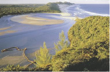 Kosi Mündung im Indischen Ozean