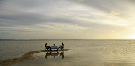 Romantisches Abendessen Thonga Beach Lodge