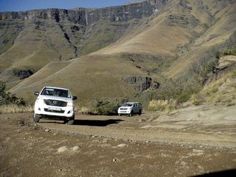 Unterwegs auf das Dach Südafrikas