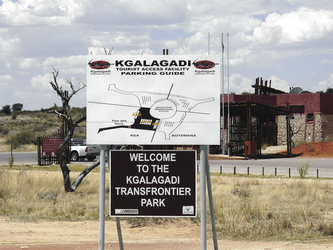 Willkommen im Kgalagadi NP