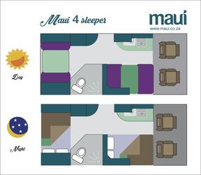 Maui M4BL: Tag- und Nacht-Layout