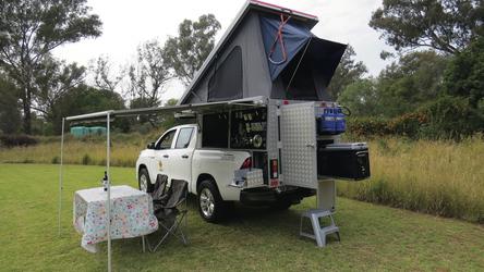 Durchdachte Campingkabine