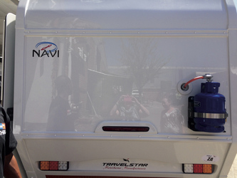 Heckansicht Britz 4x4 Navi
