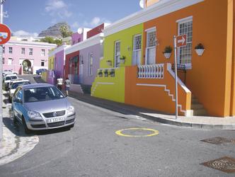 Unterwegs im Bo-Kaap Viertel