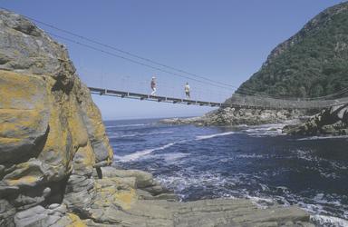 Hängebrücke über dem Storms River