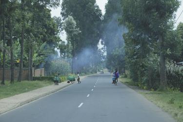 Straßenszene in Ruanda