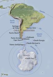 Landkarte Antarktis