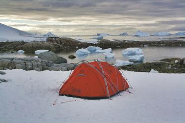 Camping auf dem Eis