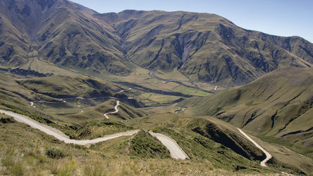 Passstraße von Cachi hinunter nach Salta