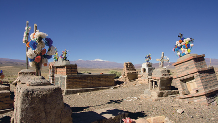 Friedhof zwischen Salta und Cafayate