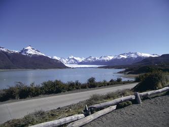 auf dem Weg zum Perito Moreno Gletscher