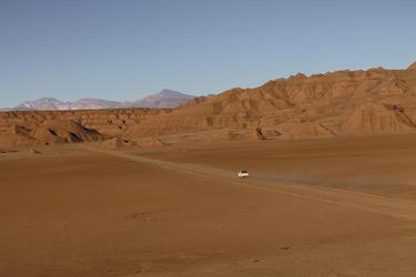 Fahrt in Richtung der Labyrinth Wüste