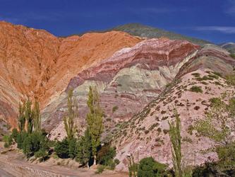 Landschaft im Nordwesten Argentiniens, Jujuy Purmamarca