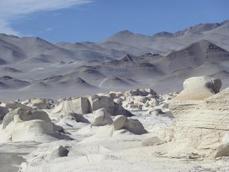 Steinfeld Pumice in der Puna-Wüste