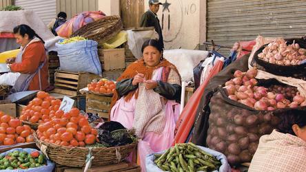 Indigena auf dem Markt