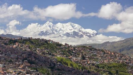 Blick auf La Paz