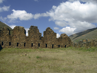 Inkaruinen der Festung Incallajta