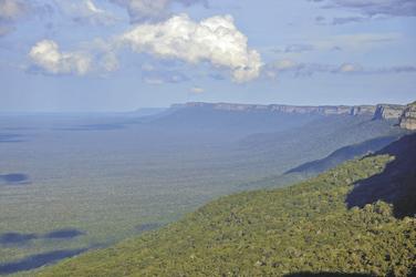 Blick auf das Naturreservat Tucavaca