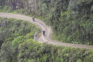 mit dem Mountainbike auf der Camino de la Muerte