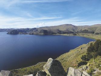 Blick auf den Titicaca-See