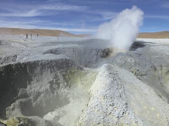 Geysirfeld Sol de Manana im Altiplano