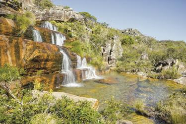 Wasserfall im Biribiri State Park