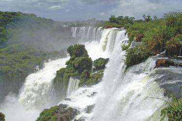 Blick auf die Wasserfälle von Iguazu, ©SAT
