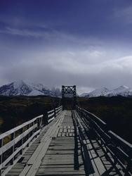 Brücke im Nationalpark Torres del Paine