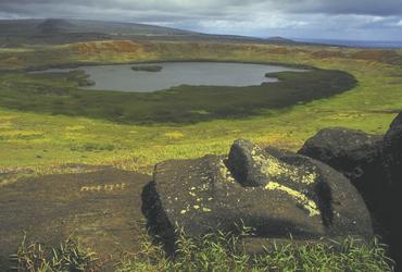 Blick auf den Vulkan Rano Kau, Osterinsel