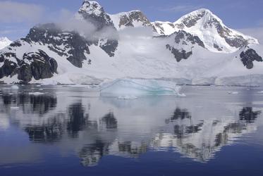 Schnee und Eis in der Antarktis