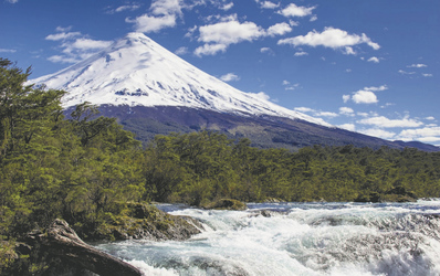 Vulkan Osorno und Wasserfälle von Petrohue