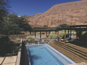 einer der Pools im Hotel Alto Atacama