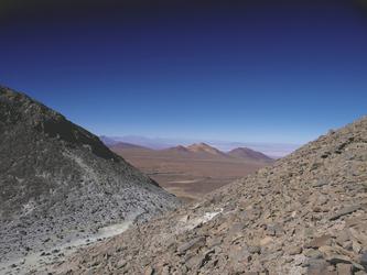 Abstieg vom Cerro Toco