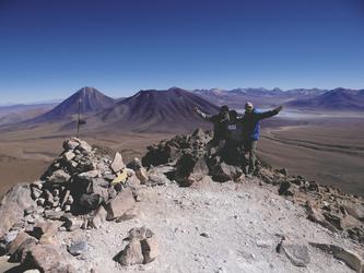 auf dem Gipfel (5.604 m)