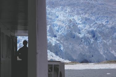 Anfahrt zu einem mächtigen Gletscher